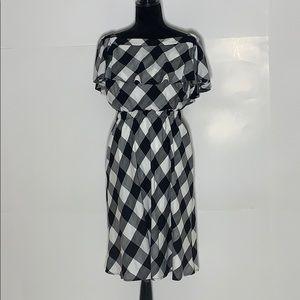 Beauport  Isabell Gingham Off the Shoulder Dress
